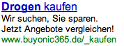 Adwords – Drogen